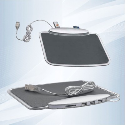 Mouse Pad con HUB USB y luces