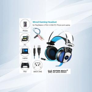 Auriculares Estéreo Para Juegos De 3,5 Mm Con Micrófono Led